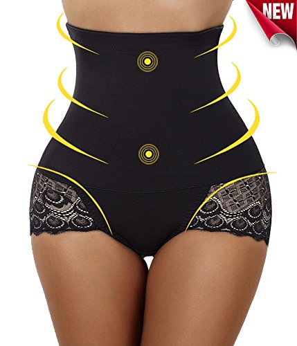 Gotoly Women's Sexy Butt Lift Panty Tummy Control Trimmer Shapewear Body Shaper(Large, Black(Buttock Enhancer))
