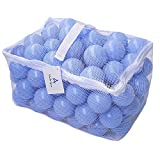 Wonder Space Soft Pit Balls, Chemical-Free Crush Proof Plastic Ocean Ball, Phthalate & BPA Free with No Smell, Safe for Toddler Ball Pit/Kiddie Pool/Indoor Baby Playpen, Pack of 100 (Macaroon Blue)
