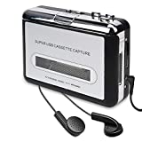 Cassette Player, Cassette Tape to MP3 CD Converter Via USB, Convert Walkman Tape Cassette to MP3 Format, Compatible with Laptop and PC