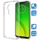 Motorola Moto G7 Power Case 2019, GSDCB Air Cushion Shockproof Phone Protective Case with Hard PC Back Cover Hybrid Soft Flexible TPU Edge Design Ultra Thin Slim Fit for Women Men Girl Kid Boy Clear