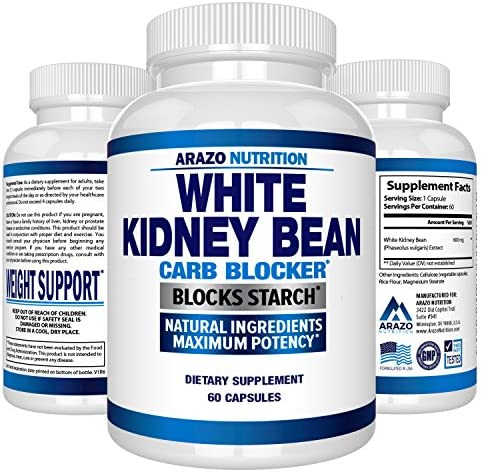 White Kidney Bean Extract - 100% Pure Carb Blocker and Fat Absorber for Weight Loss - Intercept Carbs – Arazo Nutrition 3