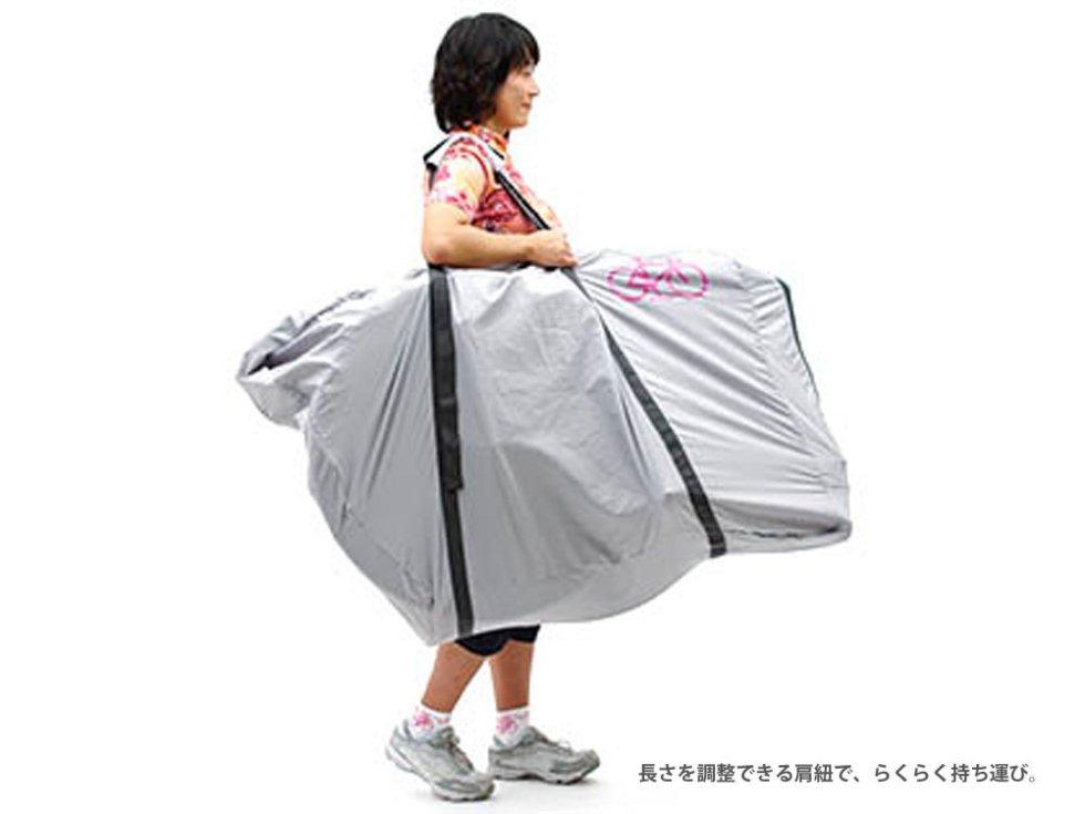 よこ型は小柄な女性でも下に自転車を着くことなく持ち運ぶことができる