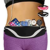 AIKENDO iPhone Running Pouch Belt 8 Plus, Adjustable Running Belt iPhone x 7 for Jogging,Workout,Travelling Fits All Phone, Running Fanny Pack for Men&Women,Phone Carrier Holder for Running (Balck)