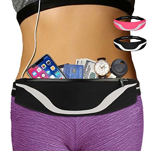 AIKENDO iPhone Running Pouch Belt 8 Plus, Adjustable Running Belt iPhone x 7 for Jogging,Workout,Travelling Fits All Phone, Running Fanny Pack for Men&Women,Phone Carrier Holder for Running (Balck)