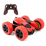 Rimila Electric RC Stunt Car 2WD Off Road Remote Control Vehicle 2.4GHz Racing slot Cars Extreme High Speed 7.5MPH 360 Degree Rolling Rotating Rotation(Battery Not Included) (Red)