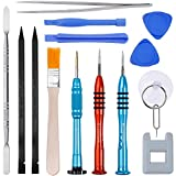 Vastar 16Pcs Cell Phone Repair Tool Kit for iPhone Precision Screwdriver Set with Magnetizer/Demagnetizer Tool & Opening Pry Tools for iPhone X/8/8 Plus, 7/7Plus,6P/6S/6/5S/5/5C/4S/4/SE,iPod,iTouch