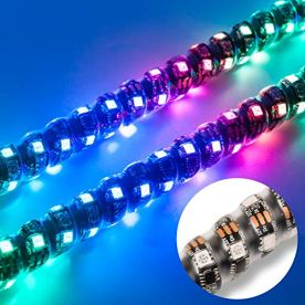 AXECO-2X-6ft-LED-Whip-Lights-360-Spiral-DancingChasing-RGB-LED-Lighted-Antenna-Whips-with-US-Flag-RF-Remote-Control-for-ATV-UTV-Offroad-Trucks-Sand-Buggy-Dune-Quad-4X4-SXS-Boat