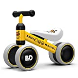 XJD Baby Balance Bikes Bicycle Children Walker Toddler Bike 10-24 Months Toys for 1 Year Old No Pedal Infant 4 Wheels First Birthday Bike (Yellow Duck)