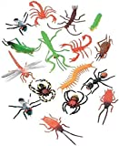 """Darice Plastic Insects (16 pc) - 2"""" Long Plastic Bugs and Arachnids - Great for Playtime, Party Décor, Cupcake Toppers, Sensory Bins - Use in The Bath or Sandbox - Kids Love These Colorful Insects"""