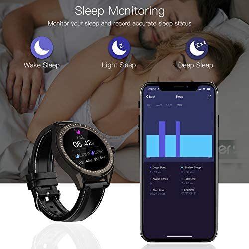 """COULAX Smart Watch, 1.4"""" Touch Screen Smartwatch, Fitness Tracker Step Counter, Activity Tracker with Heart Rate Monitor, IP68 Waterproof Sport Watch for Women and Men 9"""