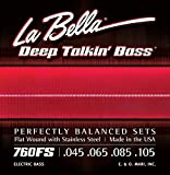 La Bella 760FS Stainless Steel Bass Guitar Strings, Perfectly Balanced Sets, Standard Tension - Perfect for Professional Bass Players
