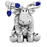 Authentic BELLA FASCINI Christmas Moose Tangled in Lights Charm Bead - 925 Silver - Fits Bracelets - Blue