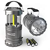 HeroBeam 2 x LED Lantern V2.0 with Flashlight - Latest COB Technology (350 LUMENS) - Collapsible Camp Lamp - Great Light for Camping, Car, Shop, Attic, Garage - 5 Year Warranty