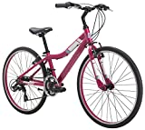 Diamondback Bicycles Clarity 24 Girl's Youth Fitness Hybrid 24' Wheel, Pink