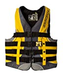 Body Glove Men's US Coast Guard Approved Type III Torque 2 Nylon PFD Life Vest (Black/Yellow, X-Large)