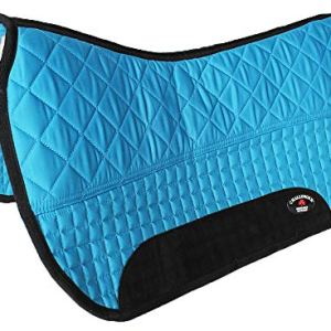 CHALLENGER Horse Western 28″ x 30″ Cotton Quilted Padded Saddle Pad Turquoise 3995