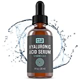M3 Naturals Hyaluronic Acid Serum with Vitamin C for Face and Eyes Topical Facial Serum Natural Skin Care Anti Aging Anti Wrinkle Plumps Hydrates Fine Lines Vitamin E 1 FL OZ
