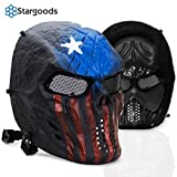 Stargoods Skeleton Airsoft Tactical Mask - Metal Mesh Paintball, BB Gun & CS Games - America