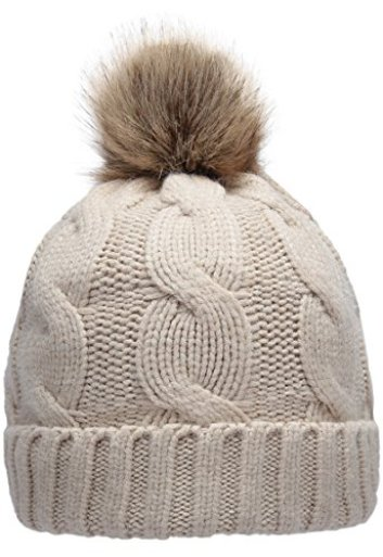 83f08e5daf4 NEOSAN Women s Winter Ribbed Knit Faux Fur Pompoms Chunky Lined Beanie Hats