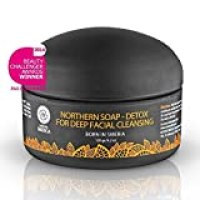 Natura Siberica, Northern Detoxifying Soap with Charcoal for A Deep Purifying Effect, 4.23 Ounce