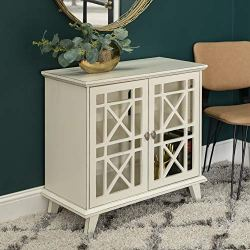 Walker Edison Wood Accent Buffet Sideboard Serving Storage Cabinet with Doors Entryway Kitchen Dining Console Living…