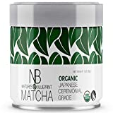 Matcha Green Tea Powder by Nature's Blueprint-USDA Organic Ceremonial Grade Straight from Uji Japan, Premium Quality-1 oz Tin contains Powerful Antioxidant Energy for Non-GMO Health and WeightLoss.