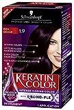 Schwarzkopf Keratin Color Permanent Hair Color Cream, 1.9 Rich Caviar(Packaging May Vary)