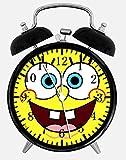 Spongebob Squarepants Alarm Desk Clock 3.75' Home or Office Decor W129 Nice For Gift