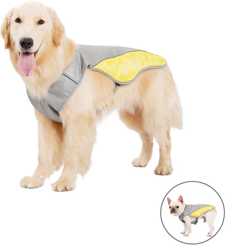 Yuhtech Chaleco de enfriamiento, Chaleco Refrescante Perro Chaleco de Refrigeración para Perros Medianos Perros Grandes (XS-Chest-36cm-44cm)