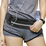 DIOMMELL Running Belt Waist Pack Fit All Phone Models Water Resistant Fanny Pack with Water Bottle Holder for Hiking Fitness Cycling Climbing Travelling, Money Belt Pouch Bag for Men and Women