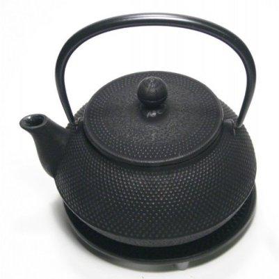 Japanese cast iron teapot/Tetsubin/Iwachu, Nambu/black hobnail/590ml(20 fl oz)