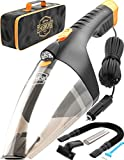 Car Vacuum Cleaner high Power - 110W 12v Corded auto Portable Vacuum Cleaner for Car Interior Cleaning - Lightweight DC Car Vac - Nozzle Set - Mini Handheld Car Vaccuume Cleaner for Men Women (Black)