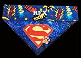 Superman Bandana / Over the Collar Dog Bandana / Embroidered Personalized Dog Bandana (All Sizes)