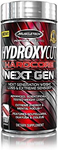 Weight Loss Pills for Women & Men | Hydroxycut Hardcore Next Gen | Weight Loss Supplement Pills | Energy Pills | Metabolism Booster for Weight Loss | Weightloss & Energy Supplements | 180 Pills 1