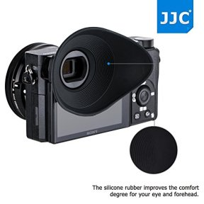 JJC-Soft-Silicone-360o-Rotatable-Ergonomic-Oval-Shape-Camera-Viewfinder-Eyecup-Eyepiece-for-Sony-ILCE-A6300-A6000-NEX-6-NEX-7-Replace-Sony-FDA-EP10-Extended-Version-for-Eyeglass-Photographer-User