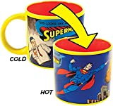 Job for Superman Heat Changing Coffee Mug - Add Liquid and Watch Clark Kent Transform into Superman - Comes in a Fun Gift Box