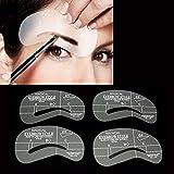 Ochioly 24 Pcs Pro New Eyebrow Shaping Stencil Set Grooming Tools Drawing Card For Dashing Eyebrows