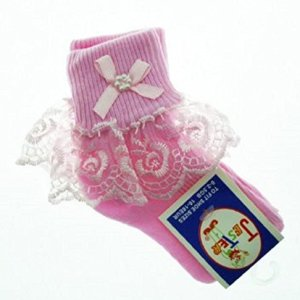 Baby/Girls Frilly Socks Pink (6-8.5 (GB) 23-26 (EUR)) 51bsNxj23hL