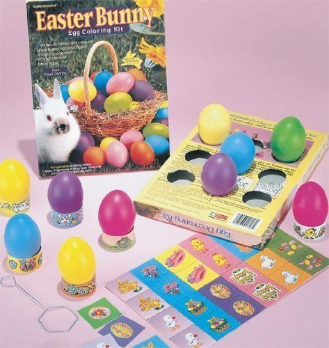 Utilimate Easter Egg Decorating Kit Easter Basket Kids Toddlers Gift Children Pre Made Girls Boys Eggs Kit Rabbit
