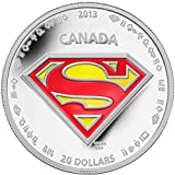 2013 CA Superman: Shield - Silver 1 oz. Proof Coin - Canada RCM - with all OGP and COA $20 Superb Gem Uncirculated