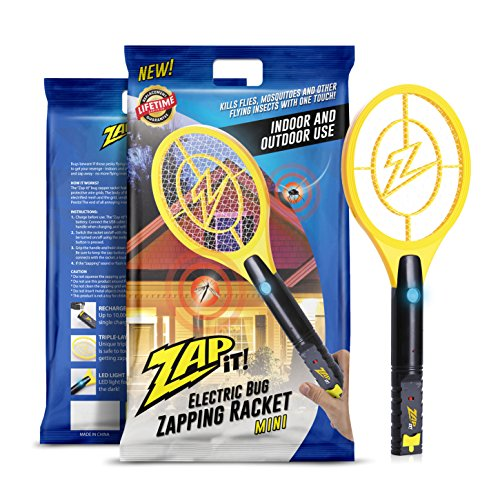 Zap It! Bug Zapper Racket, 4000V, USB Rechargeable