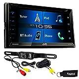 JVC KW-V330BT 6.8' Double DIN Bluetooth in-Dash DVD/CD/AM/FM/Digital Media Car Stereo with Rear View Camera
