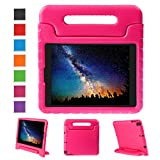 NEWSTYLE Apple iPad Air 2 Case Shockproof Case Light Weight Kids Case Super Protection Cover Handle Stand Case for Kids Children for Apple iPad Air 2 (2014 Released) - Rose Color