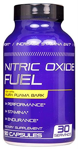 Nitric Oxide Fuel Male Enhancing Pills - Enlargement Booster for Men - Increase Size, Strength, Stamina - Energy, Mood, Endurance Boost - All Natural Performance Supplement - 90 Caps Manufactured USA