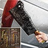 Halloween Props FOAM Sword Axe Bat Crowbar Hatchet Knife Hammer Wrench Sledgehammer Medieval Sword Roman Sword Spartan Sword For Halloween Costume Cosplay LARP Home Decor 52883 (15' Butcher Knife)
