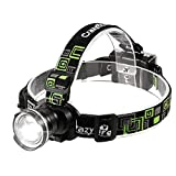 CrazyFire LED Headlamp, Super Bright Headlamp Headlight Flashlight, 3 Modes Zoomable Headlamps for Runing,Hiking,Camping,Fishing,Hunting(Black)