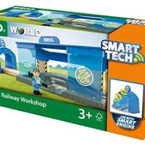 BRIO World – 33918 Smart Railway Workshop | 3 Piece Toy Train Accessory for Kids Ages 3 and Up 51c 2BKGzJo2L