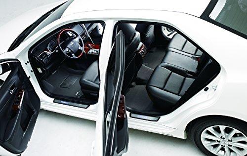 3D MAXpider Complete Set Custom Fit All-Weather Floor Mat for Select BMW 3 Series Sedan (E90) Models - Kagu Rubber (Black)
