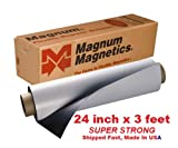 Magnum Magnetic 24x3 feet .30mil Super Strong Flexible Material by Magnum Magnetic, white