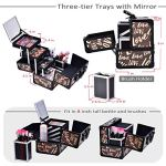 Joligrace-Makeup-Train-Case-Cosmetic-Organizer-Box-Lockable-with-3-Trays-and-a-Brush-Holder-with-Mirror-Vintage-Brown-Love-Pattern